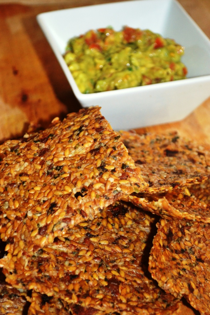 Raw Food Pizza Crackers With Avopepper Dip Recipe