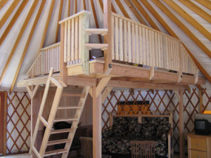 sustainable living in yurts