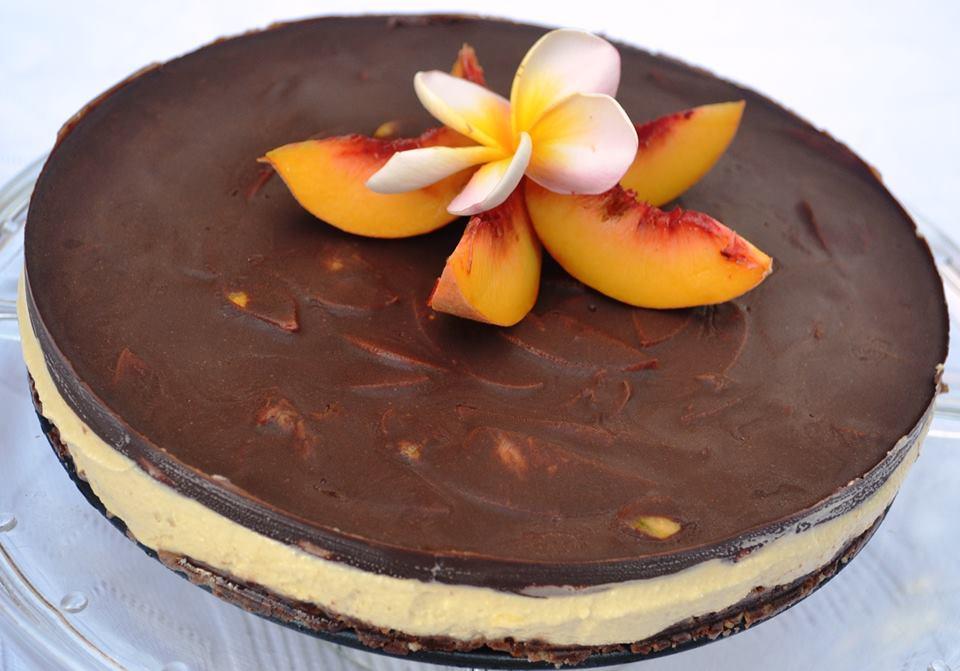 Raw Chocolate Peach Cake Recipe Raw Eva