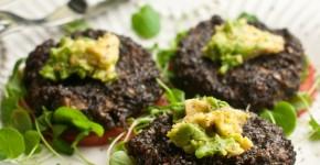 Raw Mushrooms burger recipe, healthy recipe